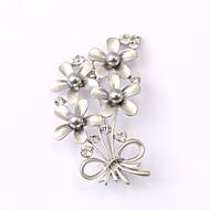 European and American fashion zircon Pearl Brooch Series 025