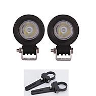 높은 전력 10w 주도 작업 빛 바 트럭 부품 램프 + 한 쌍의 괄호 1.5 인치 마운트