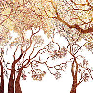 JAMMORY 3XL(14'7''*9'2'')3D Wallpaper For Home Contemporary Wall Covering Canvas Material Golden Tree
