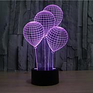 léggömb érintse tompítása 3D LED éjszakai fény 7colorful dekoráció hangulat lámpa újdonság világítás karácsonyi fény