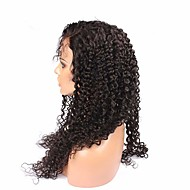 "Natural Color High Quality 100% Full Lace Wig Brazilian Virgin Human Hair Wig Kinky Curly 26""28"""
