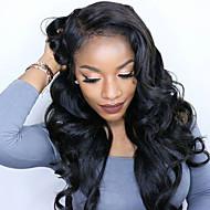 גוף תחרת גל פאות קדמיות עבור נשים שחורות שיער אדם בתול ברזילאיות פאות חזית תחרת u-חלק