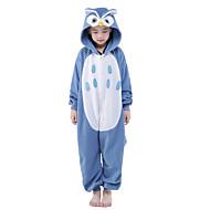 Kigurumi Pijamale noul Cosplay® Bufniță Leotard/Onesie Festival/Sărbătoare Sleepwear Pentru Animale Halloween Albastru Peteci Mink catifea