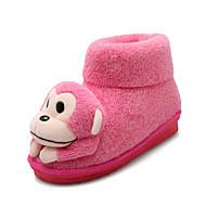 Feminino-Chinelos e flip-flops-Conforto Botas de Neve Botas Montaria Botas da Moda-Rasteiro-Marrom Rosa Roxo-Courino-Ar-Livre Casual