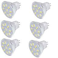 2 GU4(MR11) LED 스팟 조명 MR11 9 SMD 5733 150 lm 따뜻한 화이트 / 차가운 화이트 장식 9-30 V 6개