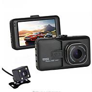 2016 nouvelle voiture à double lentille dvr 1080p full hd vidéo registrator enregistreur sauvegarde caméra de recul g-capteur