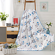 "Floral / Botanical Printed 100% Mulberry Silk Quilt for Summer Air Conditioner Room W59""×L79""(W150 x L200cm)"