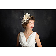 Women's Feather / Tulle / Flax / Net Headpiece-Special Occasion Fascinators 1 Piece