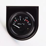 """2 """"52mm 12V 범용 자동차 포인터 유온 온도 게이지 40-120 백색 LED"""