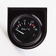 "2 ""miernik temp temperatura oleju uniwersalnego wskaźnika samochodu 52mm 12v 40-120 białe LED"