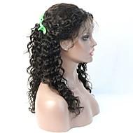 venda quente peruca onda profunda cabelo humano ilusão glueless rendas frente / peruca cheia do laço com o cabelo mais bebê