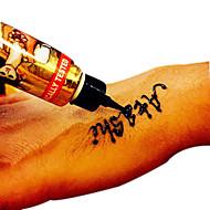 Halloween GOLECHA HENNA Paste Tattoo Kit Body Art Temporary Ink Jagua Black Hina Diy Hena