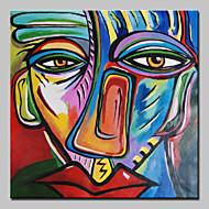 Ručně malované Slavné Lidé Abstraktní portrét Čtvercový,Klasický Jeden panel Plátno Hang-malované olejomalba For Home dekorace