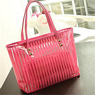 Femei Geantă Umăr PVC Casual Rosu Albastru Roz