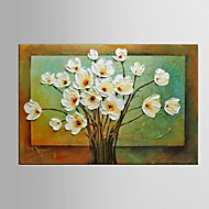 Ready to Hang Stretched Frame Hand-Painted Flower Oil Painting Canvas Wall Art Home Office Restaurant Decor