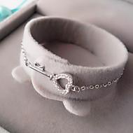 Armbånd Kæde & Lænkearmbånd Sølv Geometric Shape / Kærlighed Personlighed Afslappet Smykker Gave Gylden / Sølv,1pc