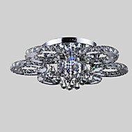 50  Watt Flush Mount ,  Modern/Contemporary Chrome Feature for Crystal / LED Metal Living Room / Bedroom / Dining Room
