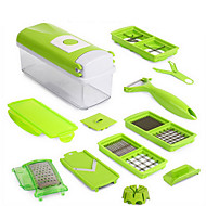12-delig Cutter & Slicer For voor Fruit / voor Vegetable RVS Multifunctioneel / Hoge kwaliteit / Creative Kitchen Gadget