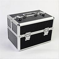professionele make-up tas met lock box multilayer dubbele deur aluminiumlegering make-up opbergdoos