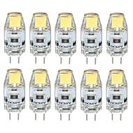 3W G4 נורות שני פינים לד T 1 COB 300-350 lm לבן חם / לבן קר / לבן טבעי דקורטיבי / עמיד במים DC 12 V עשרה חלקים