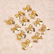 12pcs glædelig juletræ dekoration guld bowknot stil blomst sukkerrør ornament banket prom forsyninger