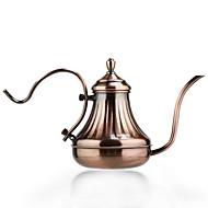 jarra de café panela de aço inoxidável tribunal sem corte do lado europeu