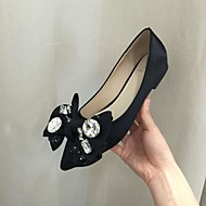 Women's Flats Fall Ballerina / Pointed Toe Fabric Casual Flat Heel Applique Black Others