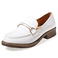 Women's Oxfords Fall Comfort / Round Toe PU Outdoor Chunky Heel Tassel Black / White Others
