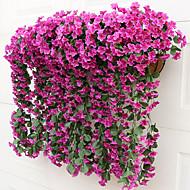 2 2 분기 실크 바이올렛 벽 걸이 플라워 인공 꽃 80CM