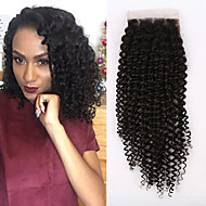 Kinky Curly 4x4 inch Lace Closures Free Part Lace Closures With Baby Hair Brazilian Lace Closures For Women