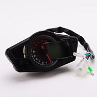 """pour 12v moto et voiture 5 """"lcd odomètre numérique tachymètre tachymètre moto avec rétro-éclairage"""