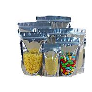 folha ziplock / yin yang alumínio e puxar o osso sacos saco de embalagens de alimentos de vedação a dez 12 * 18 * 3.5-18 fio de pé