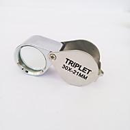 høj kvalitet vandtæt 30 gange forstørrelsesglasset / smykker vurdering / ultraviolet lys / metal