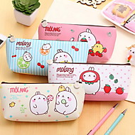 Han Edition Cute Potato Man Rabbit PU Students Pen Bag