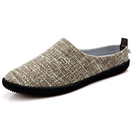 Men's Loafers & Slip-Ons Comfort Fabric Casual Flat Heel Others Blue / Beige / Khaki Others