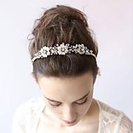 Femme Alliage / Imitation de perle / Zircon Casque-Mariage / Occasion spéciale / DécontractéSerre-tête / Fleurs / Chaîne pour Cheveux /