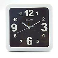 (Fargemønsteret er tilfeldig) firkantet og rund og svart og hvit enkel vekkerklokke student skrivebordet klokke