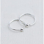 Clip Earring RoundJewelry 1 pair Fashionable Sterling Silver Silver Daily / Casual