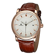 FORSINING® Men's Watch Automatic self-winding Dress Watch Calendar / Hollow Engraving Leather Band Cool Watch Unique Watch Fashion Watch