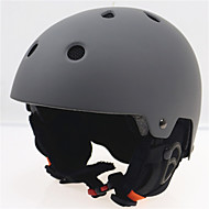 Børn / Unisex Hjelm L: 58-61CM Sport Ultra Lys (UL) Fastsat 14 CE EN 1077 Snesport / Ski Grå PC / EPS