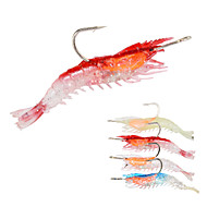 5pcs/lot Afishlure Soft Lure 2.9g 63mm Soft Shrimp with Lead Hook Fishng bait Lure Fishing Tackle