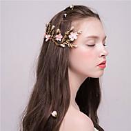 Damen Künstliche Perle Kopfschmuck-Hochzeit Haarclip 2 Stück Rosa Blume 52