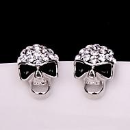 Øreringe Skull shape Smykker 1 par Mode Halloween / Daglig / Afslappet Legering Dame Gylden
