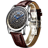AngelaBOS Men's Dress Watch Fashion Watch Mechanical Watch Automatic self-winding Calendar Water Resistant / Water Proof Luminous Leather