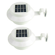 2PCS 3LED Solar Light Wateproof Garden Decoration Light Sensor Solar Power Panel Lamp Mounted Outdoor Fence Pathway Wall
