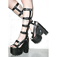Women's Heels / Sandals / Boots  / Fall Platform / Sandals PU Casual Chunky Heel Buckle Black / Pink Others
