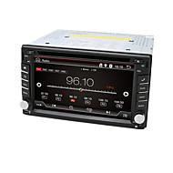 6,2-tommers 2 DIN tft-skjerm i dashbordet bil dvd spiller med bluetooth, navigasjon-ready gps, ipod-inngang, RDS, wi-fi, tv