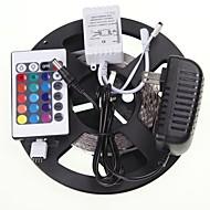 5M 16.4ft  RGB 300x5630 SMD LED  Flexible LED Light Strips + RGB Controlers + Power Supply AC100-240V
