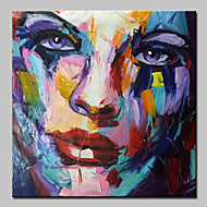 Modern Abstract Hand Painted Figure Oil Painting On Canvas Wall Art With Stretched Frame Ready To Hang 100x100cm