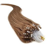 καλύτερο για τα μαλλιά πώλησης μικρο χάντρα επέκταση μαλλιά 16-24inch 7α μικρο δαχτυλίδι βρόχο φύση ευθεία ανθρώπινης τρίχας 100% καθαρό